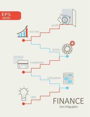 Infografisk av finans. vektor