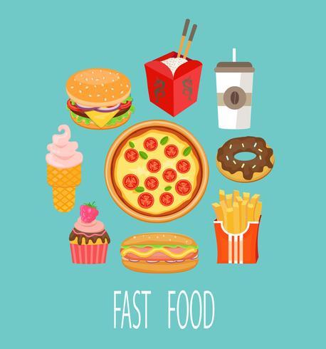 Fast-Food-Konzept. vektor