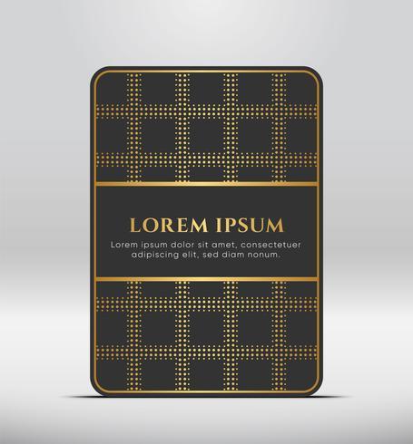 Eleganter Premium-Look. Dunkelgraue Kartenform mit goldenem Muster. Vektor-Illustration vektor