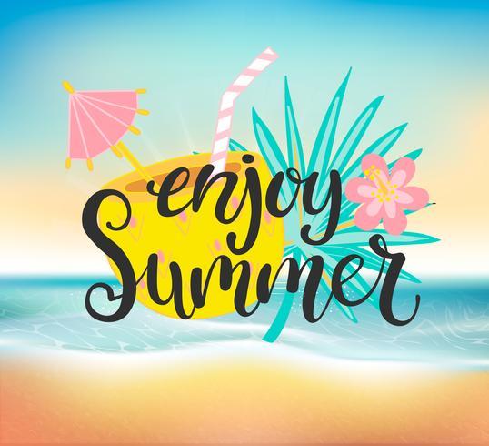 Genießen Sie eine Sommer-Strandparty. vektor
