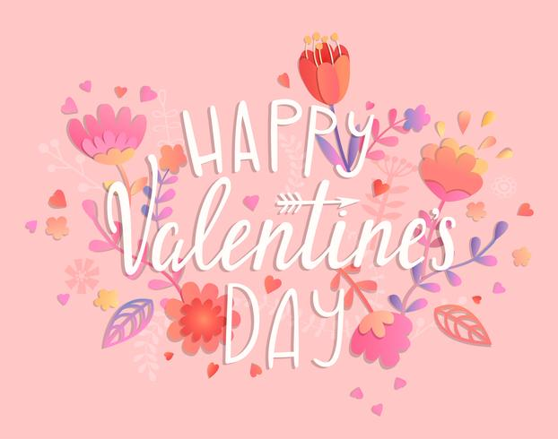 Happy Valentinstagskarte. vektor