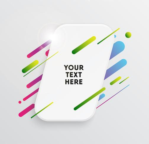 Trendy Neon Linien und Kreise Wallpaper vektor