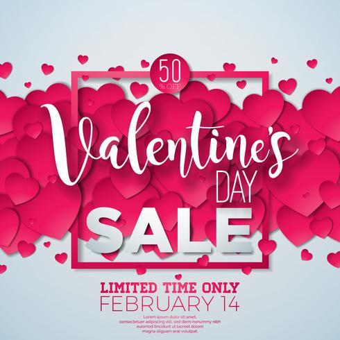 Valentinsdag försäljning bakgrund vektor