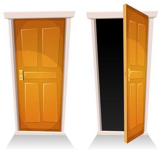 Dörrar, stängda och öppna vektor
