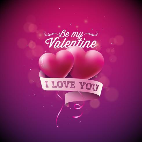 Sei meine Valentine Illustration vektor