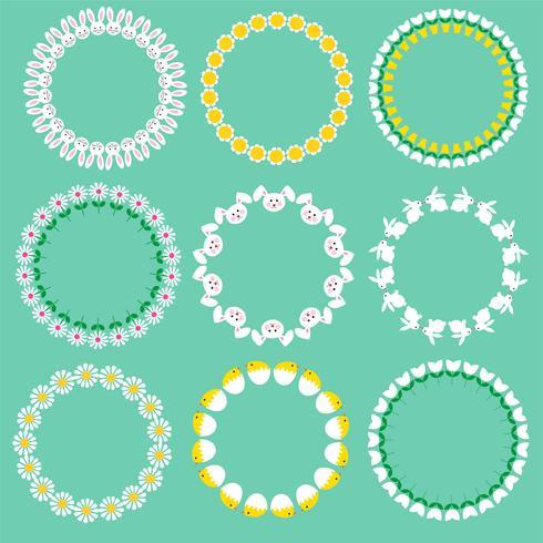 Ostern Kreis Frames vektor