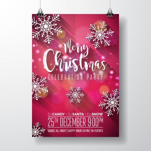 Frohe Weihnachten Party Design vektor