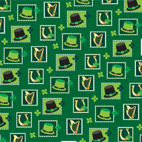 Saint Patricks dagstämpelmönster vektor