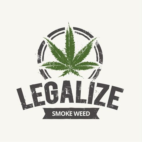 cannabis emblem vektor