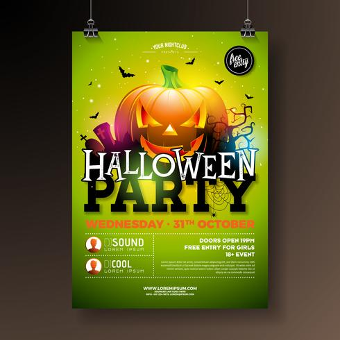 Halloween Party Flyer Abbildung vektor