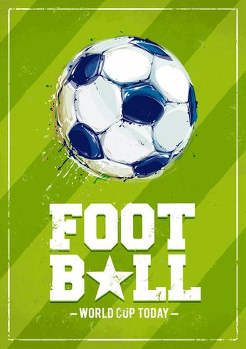 Grunge fotbollaffisch vektor