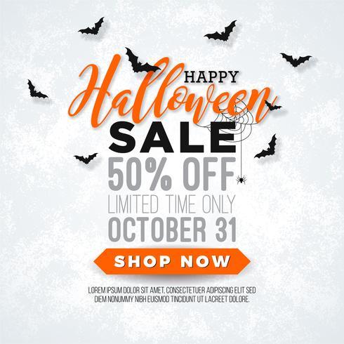 Halloween-Verkaufsillustration vektor
