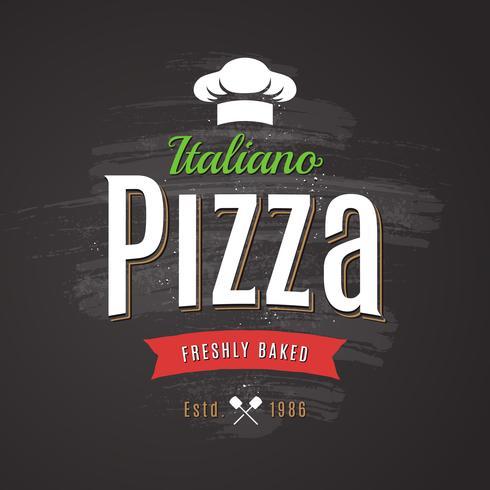 Pizza-Vektor-Emblem vektor
