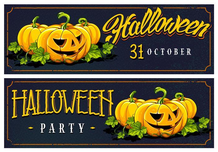 Halloween-Web-Banner-Vektor-Designs vektor