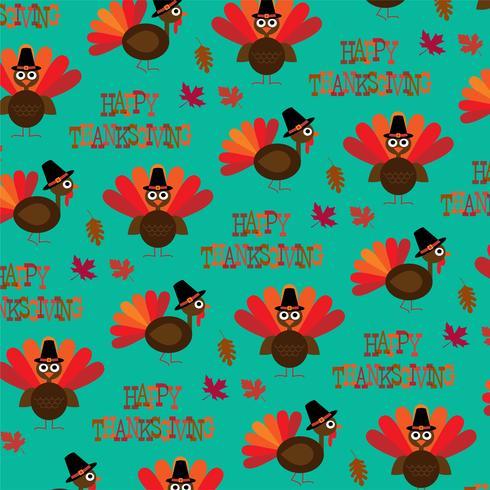 kalkon Thanksgiving mönster vektor