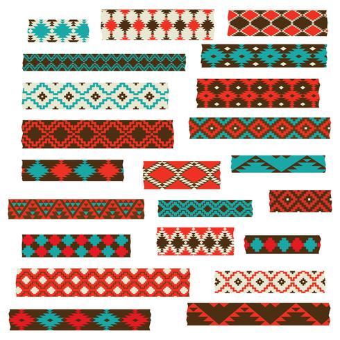 Native American Washi Tape vektor
