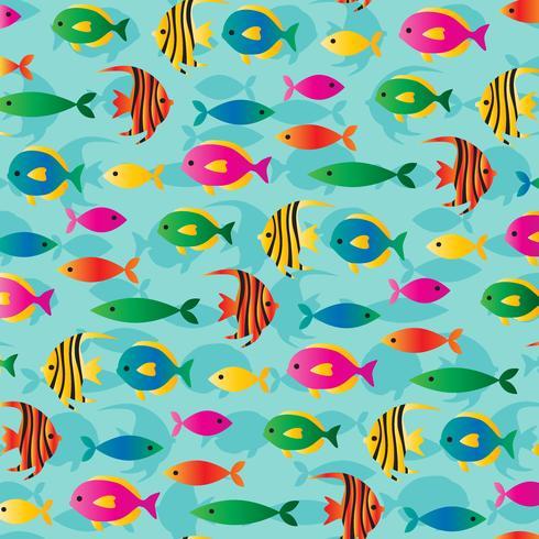 tropisk fisk bakgrundsmönster vektor