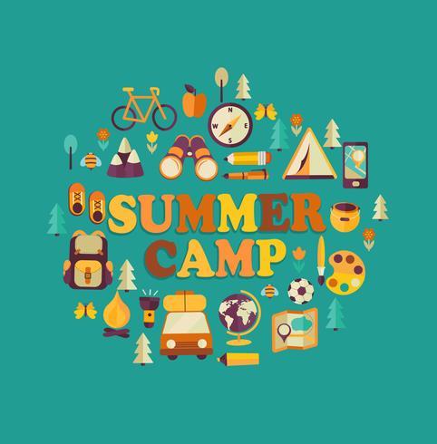 Summer Camp tema. vektor