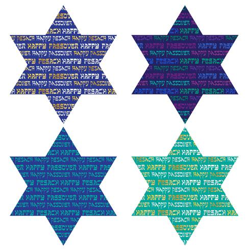 typografi mönster på judiska stjärnor vektor