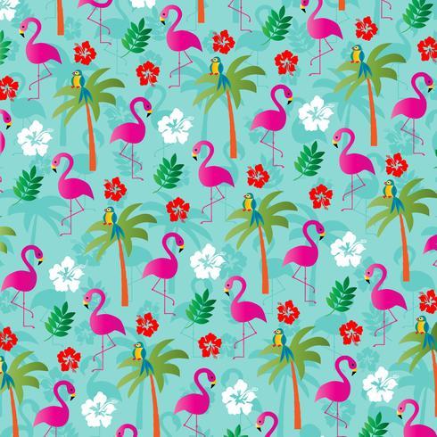 tropisches Flamingohintergrundmuster vektor