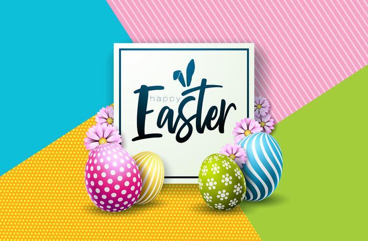 Frohe Ostern Urlaub Design vektor
