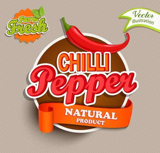 Chili-Pfeffer vektor