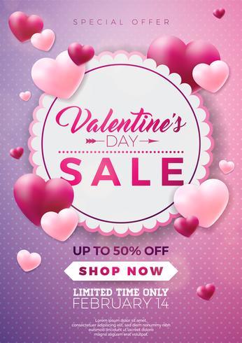 Alla hjärtans dag försäljning design vektor