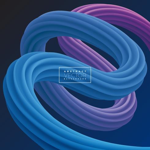 Abstrakte bunte Kurven-Linie Hintergrund 3D vektor