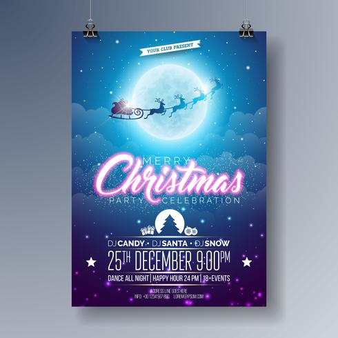 Frohe Weihnachten Party Illustration vektor