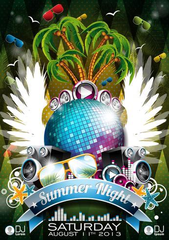 Sommer Nacht Party Design vektor