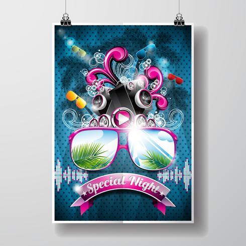 Sommer-Strandfest-Flyer-Design vektor