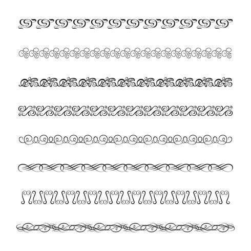 Flourishes kalligraphische Ornamente und Rahmen vektor