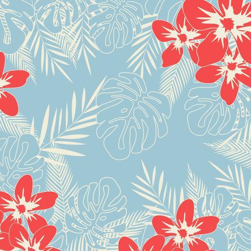 Tropisk djungel lämnar sömlös mönster bakgrund vektor