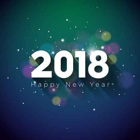 Frohes neues Jahr 2018 Illustration vektor