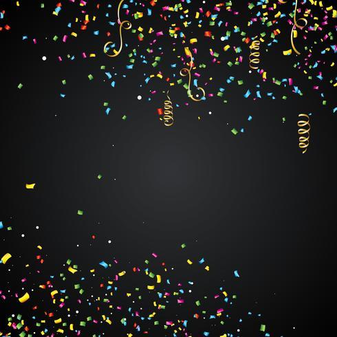 Abstrakt illustration med färgglada konfetti vektor