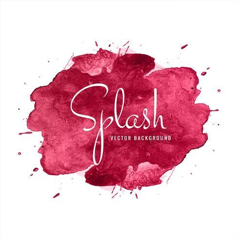 Vacker Färgrik Akvarell Splash Design vektor