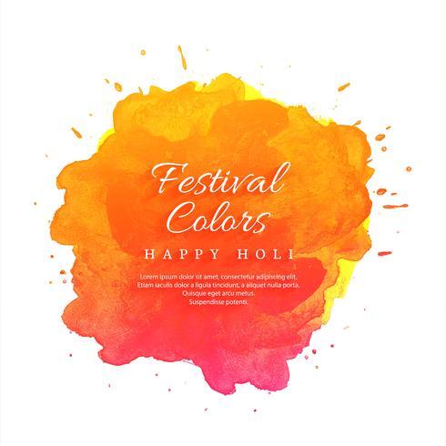 Glad Holi Indisk vårfestival med bakgrundsfärger vektor