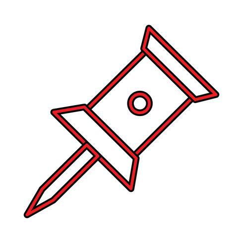 Pin Perfect Icon-Vektor oder Pigtogram-Illustration in gefüllter Art vektor