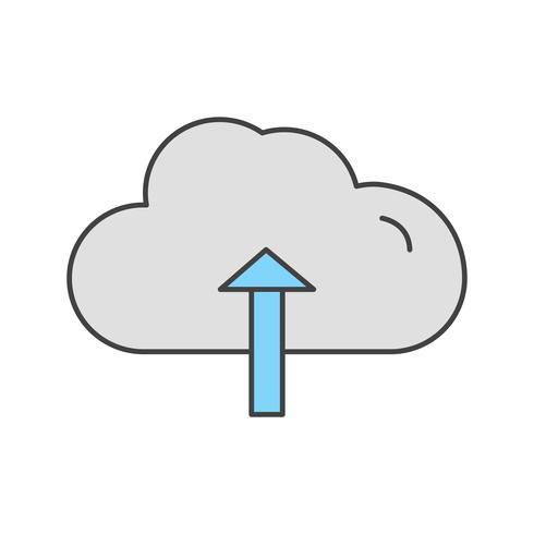 Vektor Wolke Upload-Symbol