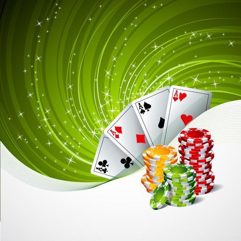 Casino-Themenabbildung vektor