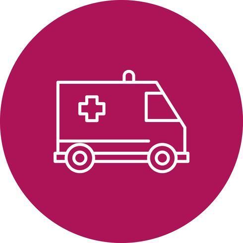 Vektor-Krankenwagen-Symbol vektor