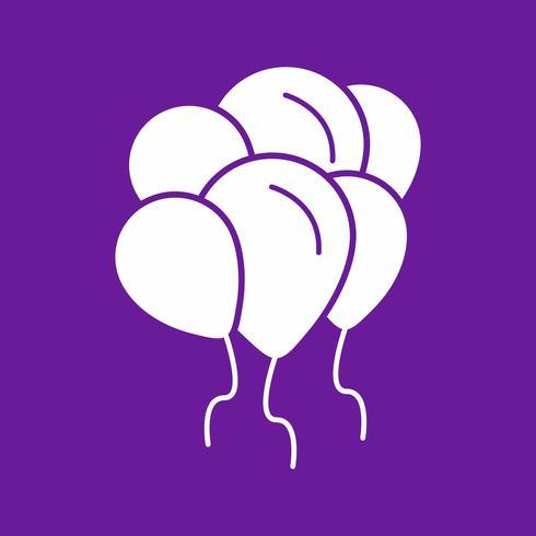 Vektor-Ballons-Symbol vektor