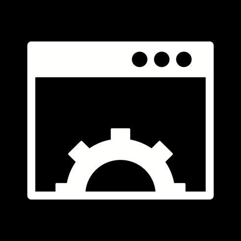 "Vektor-Browser-Symbol ""Einstellung"" vektor"