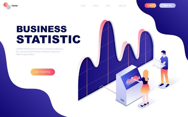 Isometrisches Konzept des modernen flachen Designs der Geschäftsstatistik vektor