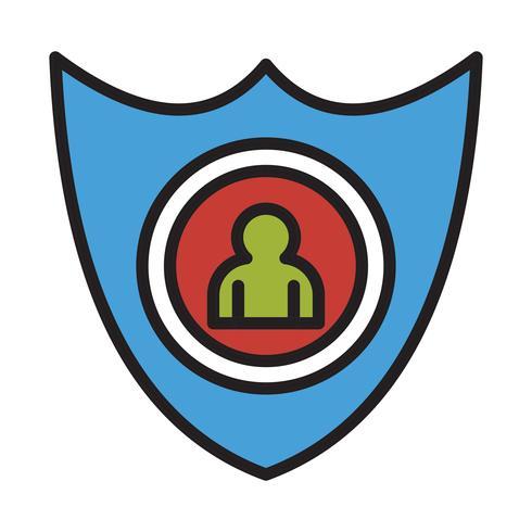 Vektor Shiled Benutzer Symbol