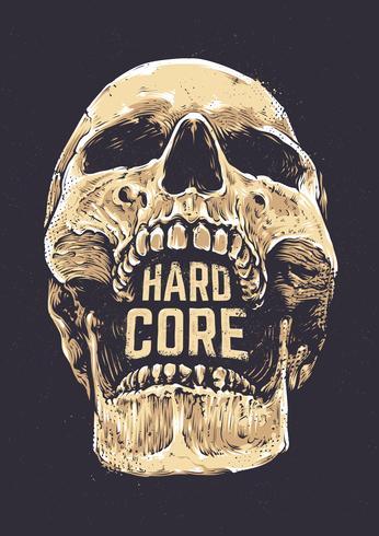 Hardcore-Schädel vektor