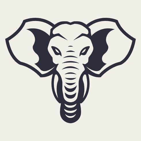 Elefant-Maskottchen-Vektor-Ikone vektor