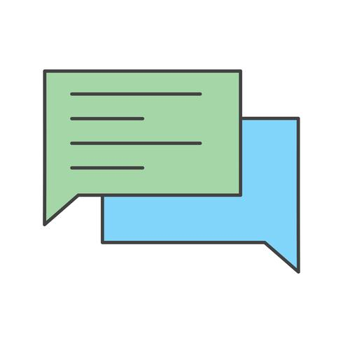 Vektor-Chat-Symbol vektor