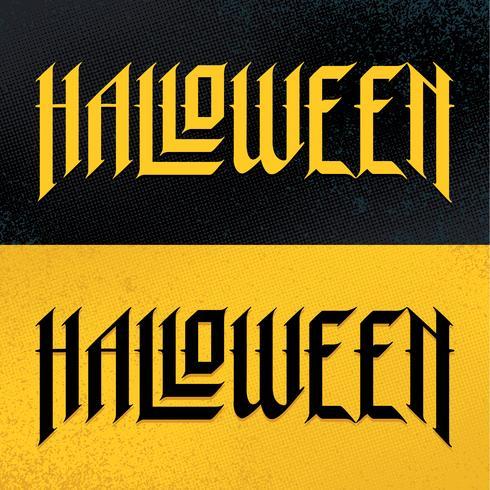 Halloween-handgezeichnete gotische Beschriftung vektor