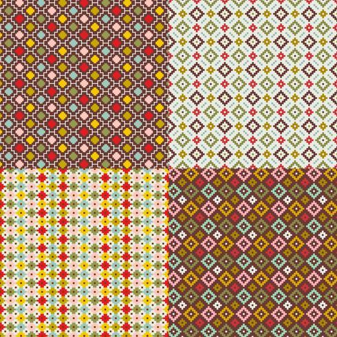 primitiva geometriska mönster vektor